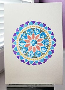 Obrazy - Mandala akvarelový obraz - 13338101_