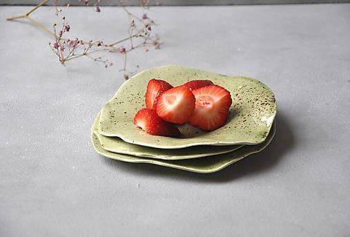 Nádoby - tanierik, podšálka kruh zelený  - 13337906_