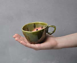 Nádoby - šálka melón malá SA 2 - 13337233_
