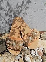 Obuv - Desert Flower Kožené Sandále - 13339603_