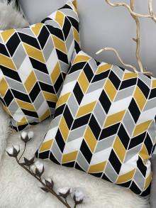 Úžitkový textil - DEKORAČNÝ VANKUŠ - OBLIEČKA mix farieb - 13337679_