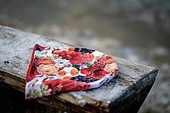 Čiapky - Neskoré leto úpletová čiapka, nákrčník alebo set (Čiapka s červeným vnútrom) - 13342531_