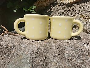Nádoby - Nová pastelová žltá :) šáločka - 13341483_