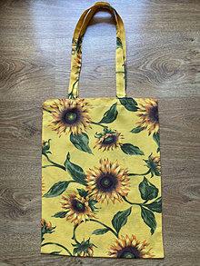 Nákupné tašky - Taška cez plece - slnečnice - 13342421_
