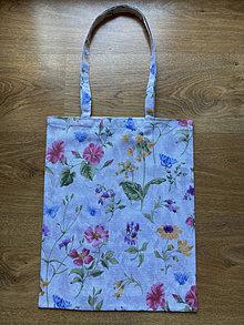 Nákupné tašky - Taška cez plece - kvety - 13342438_