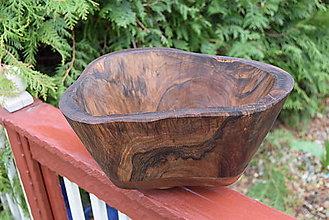 Nádoby - Masívna miska - orech, čerešňa 3 - 13340096_