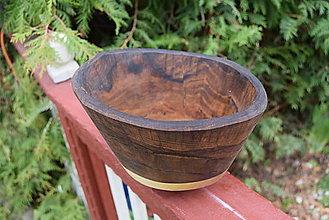 Nádoby - Orechová miska, natur 16 - 13340351_