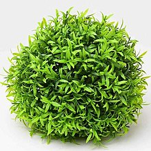 Iný materiál - umelá zeleň-krušpán guľa (21cm) - 13341954_