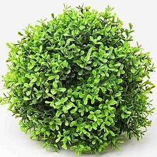 Iný materiál - umelá zeleň-krušpán guľa (22cm) - 13341955_