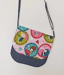 Detské tašky - Detská kabelka modrá  (Malé bodky  kruhy) - 13341292_