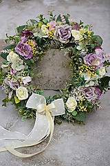 Dekorácie - Venček - Ruže vintage - 13342175_