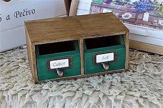 Krabičky - Polička na korenie - 13339885_