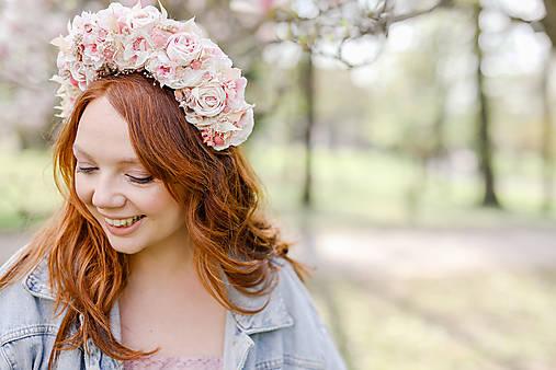 """Ozdoby do vlasov - Kvetinová parta """"voniaš mi májom""""  - 13340786_"""