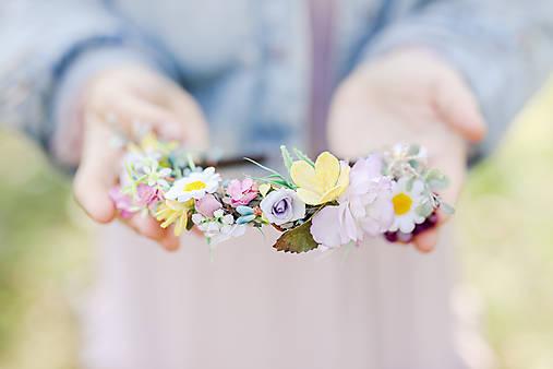 """Kvetinová čelenka """"jarné úsmevy"""""""