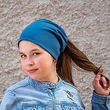 Detské čiapky - MULTIFUNKČNÁ čiapka (aj) na cop - 33 farieb - 13340867_