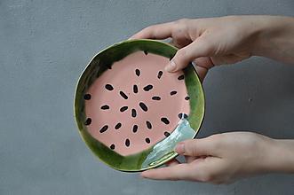 Nádoby - dezertný tanier melón - 13340398_