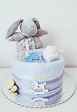 Detské doplnky - Plienková torta chlapček - 13340626_