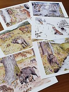 Papiernictvo - Pohľadnice Lesné zvieratá - 13341174_
