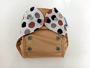 "Detské doplnky - PUL plienkové nohavičky s kridelkami  ""Latte Machiato"" - 13340900_"