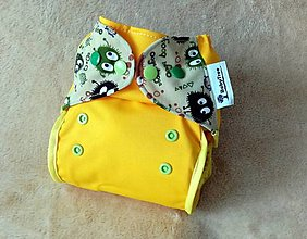 """Detské doplnky - PUL plienkové nohavičky s kridelkami  """"Bubáci žltí"""" - 13340953_"""