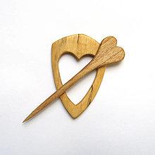 Odznaky/Brošne - Drevená ihlica na šál - vŕbová - 13341669_
