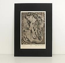 Grafika - Vo víre bytia (grafický list - čierna na krémovom) - 13344706_