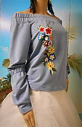 "Mikiny - Mikina ""Floral"", s vyšívanými kvietkami - 13342882_"