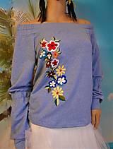 "Mikiny - Mikina ""Floral"", s vyšívanými kvietkami - 13342884_"