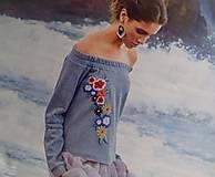 "Mikiny - Mikina ""Floral"", s vyšívanými kvietkami - 13342890_"