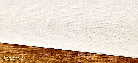 Textil - Madeira - Biela s bodkami - cena za 10 centimetrov - 13343413_
