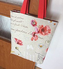 Nákupné tašky - taška režná maková - 13343936_