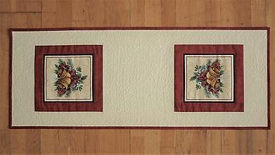 Úžitkový textil - Obrus, štóla na stôl so zvončekmi - 13345039_