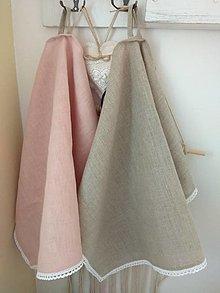 Úžitkový textil - Ľanové utierky - 13343363_
