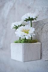 Dekorácie - Tri biele gerbery - 13345011_