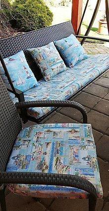Úžitkový textil - Podsedáky na záhradné sedenie - 13345012_