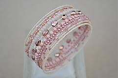 Náramky - Náramok ružové kvapky - 13344426_