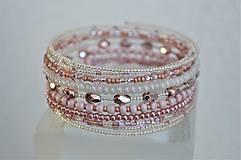 Náramky - Náramok ružové kvapky - 13344429_