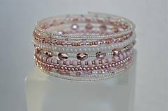 Náramky - Náramok ružové kvapky - 13344435_