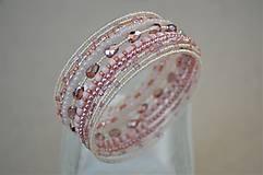 Náramky - Náramok ružové kvapky - 13344436_
