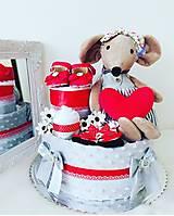 Detské doplnky - Plienková torta Myška hryzka - 13343429_