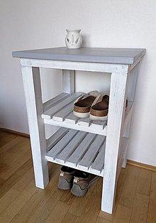 Nábytok - Botník  sivý - 13346413_