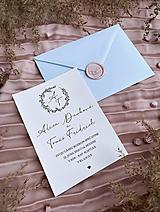 Papiernictvo - Svadobné oznámenie 104 simple - 13348498_