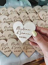 Darčeky pre svadobčanov - Magnetky pre svadobných hostí simple - 13348548_