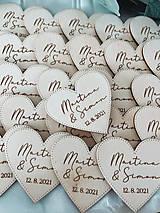 Darčeky pre svadobčanov - Magnetky pre svadobných hostí simple - 13348549_