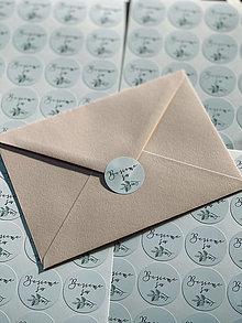 Papiernictvo - Nálepka Berieme sa zelené - 20ks - 13348459_