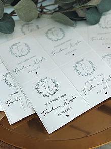 Papiernictvo - Nálepky na svadobné fľaše simple - 13348465_