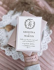 Papiernictvo - Svadobné oznámenie 105 simple dvojvrstvové - 13348513_