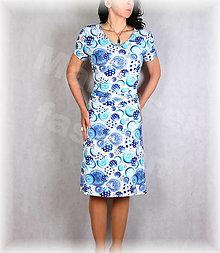 Šaty - Šaty s řasením v pase vz.651 - 13348686_
