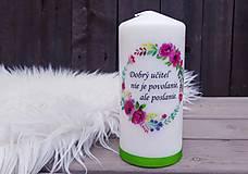 Svietidlá a sviečky - Sviečka pre učiteľa - 13347097_