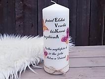 Svietidlá a sviečky - Narodeninová sviečka 20 cm - 13347128_